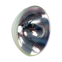 Reflector, molded glass, coated