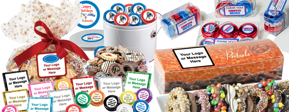 Custom cookies corporate gift baskets employee appreciation 12 business giftsg negle Image collections