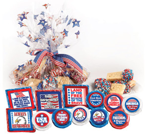 "AMERICA - 4th of July - ""Cookie Talk' Message Platters"