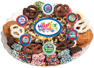 BIRTHDAY - Gourmet Popcorn & Cookie Assortment Platters