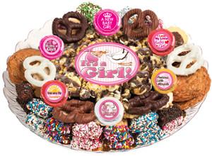 BABY GIRL - Gourmet Popcorn & Cookie Assortment Platters