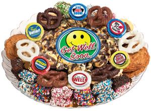 GET WELL - Gourmet Popcorn & Cookie Assortment Platters
