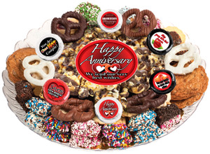 ANNIVERSARY - Gourmet Popcorn & Cookie Assortment Platters