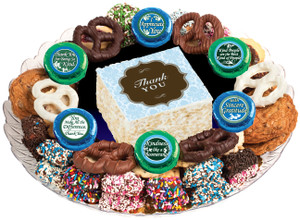 THANK YOU  - Marshmallow Crispy Treat & Cookie Assortment Platters