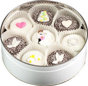 WEDDING - Decorated Oreo Tin - 16 Pcs. SPECIAL ORDER