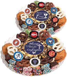 COMMUNION/ CONFIRMATION - Gourmet Popcorn & Cookie Assortment Platters