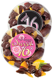 SWEET 16 CHOCOLATE DIPPED MIXED DRIED FRUIT