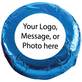 CUSTOM FOIL-WRAPPED CHOCOLATE OREOS WITH LABELS - Any Text, Photo, Logo - MANY SIZES AVAILABLE!
