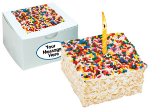 FAVORS/ BUSINESS GIFTS - Birthday  Marshmallow Rice Cake with Graphics - SPECIAL ORDER