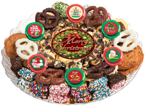 CHRISTMAS/ HOLIDAY  - Gourmet Popcorn & Cookie Assortment Platters