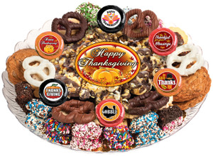 THANKSGIVING  - Gourmet Popcorn & Cookie Assortment Platters