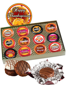 """THANKSGIVING """"COOKIE TALK"""" CHOCOLATE OREO GIFT BOX  w/ MESSAGES"""