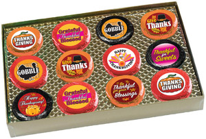 THANKSGIVING - Cookie Talk Chocolate Oreos - 12 Pc Gift Box