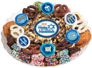 HANUKKAH - Gourmet Popcorn & Cookie Assortment Platters