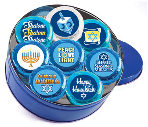 "HANUKKAH  ""COOKIE TALK"" CHOCOLATE OREO 16 Pc. TIN"