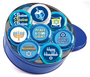 "HANUKKAH - ""Cookie Talk"" Chocolate Oreos 16 Pc. Tin"