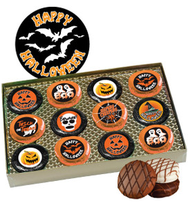 "HALLOWEEN ""COOKIE TALK"" CHOCOLATE OREO GIFT BOX W/ MESSAGES"
