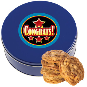 CONGRATULATIONS Chocolate Chip Cookie Tin - 1 lb.