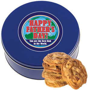 FATHER'S DAY Chocolate Chip Cookie Tin - 1 lb.
