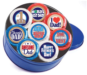 "FATHER'S DAY ""Cookie Talk"" Oreo Assortment - 16 Message Cookies in a Tin"