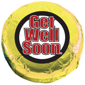 GET WELL Oreos - Foil-Wrapped with Messages/Graphics  MANY SIZES AVAILABLE!