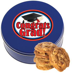 GRADUATION Chocolate Chip Cookie Tin - 1 lb.