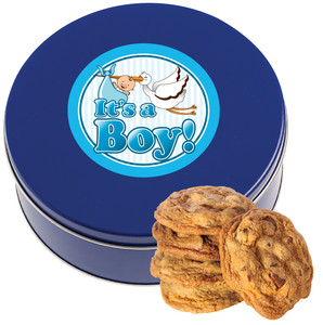 BABY BOY Chocolate Chip Cookie Tin - 1 lb.