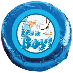 "BABY BOY ""COOKIE TALK"" CHOCOLATE OREOS Foil-Wrapped w/ Messages"
