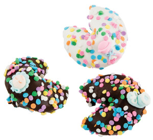 BABY GIRL - Chocolate Fortune Cookies - Classic Size- SPECIAL ORDER