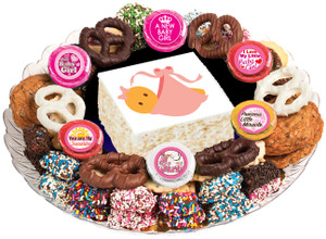 BABY GIRL - Marshmallow Crispy Treat & Cookie Assortment Platters- SPECIAL ORDER