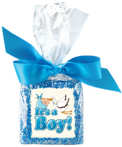 IT'S A BOY! Custom Printed Chocolate Graham Cookies SPECIAL ORDER