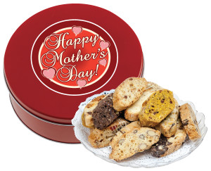 MOTHERS DAY BISCOTTIS - 1 LB. TIN