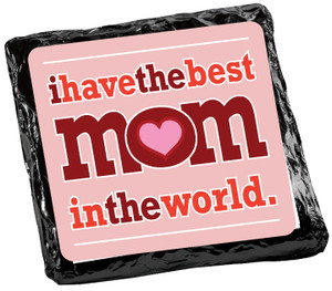 MOTHERS DAY Chocolate Grahams - Foil-Wrapped with Messages/ Graphics