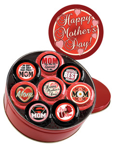 "MOTHERS DAY ""Cookie Talk"" Oreo Assortment - 16 Message Cookies in a Tin"