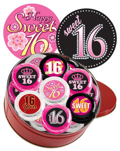 "SWEET 16  ""COOKIE TALK"" CHOCOLATE OREO TIN"