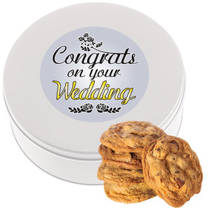 WEDDING Chocolate Chip Cookie Tin - 1 lb.