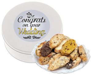 WEDDING BISCOTTIS - 1 Lb. Tin