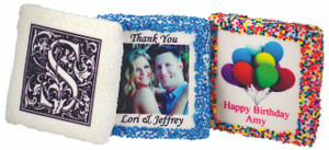 WEDDING Custom Printed Chocolate Graham Cookies SPECIAL ORDER