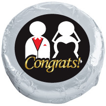WEDDING  Chocolate Oreos - Foil-Wrapped with Messages/Graphics MANY SIZES AVAILABLE!