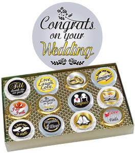 "WEDDING ""Cookie Talk"" Oreo Assortment - 12 Message Cookies in Gift Box"