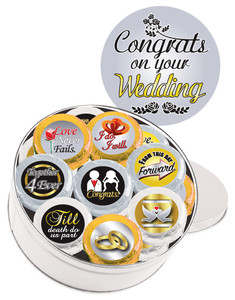 "WEDDING ""Cookie Talk"" Oreo Assortment - 16 Message Cookies in a Tin"