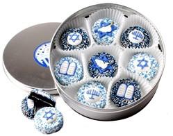 BAR/ BAT MITZVAH - Decorated Chocolate Oreos -16 Pc. Tin - SPECIAL ORDER