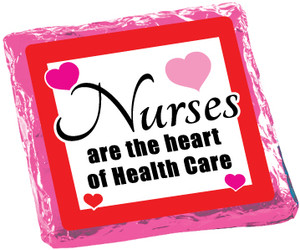 NURSES APPRECIATION -  Chocolate Grahams - Foil-Wrapped with Messages/ Graphics