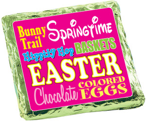 EASTER/ SPRING -  Chocolate Grahams - Foil-Wrapped with Messages/ Graphics