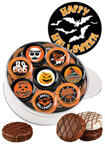 "HALLOWEEN  ""COOKIE TALK"" CHOCOLATE OREO TIN W/ MESSAGES"