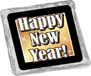 """HAPPY NEW YEAR """"COOKIE TALK"""" CHOCOLATE GRAHAMS W/ MESSAGES"""