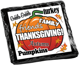 THANKSGIVING  Chocolate Grahams - Foil-Wrapped with Messages/ Graphics