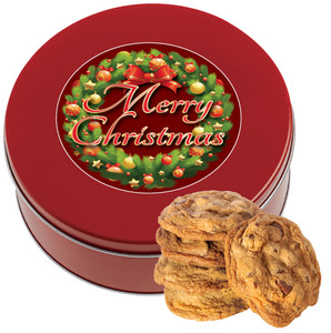 CHRISTMAS Chocolate Chip Cookie Tin - 1 lb.