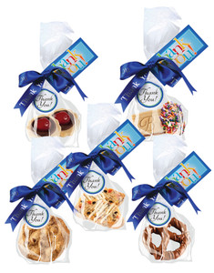 FAVORS/ BUSINESS GIFTS - Cookies, Biscottis or Chocolate Pretzels - Favor Bag with Ribbon