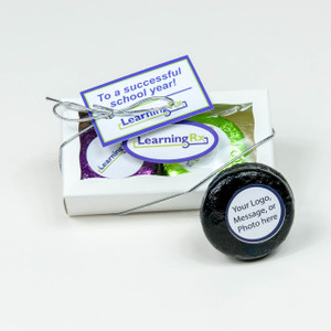 BUSINESS FAVOR - CHOCOLATE OREOS  - CUSTOM DUO - Foil-Wrapped with Labels